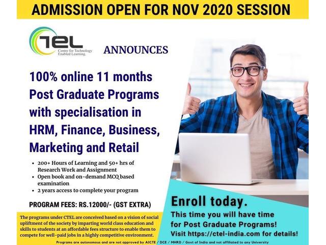 CTEL Announces 100% Online Post Graduate Programs